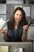 Screaming Office Worker — Stockfoto