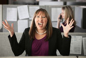 Frustrated Woman Employee — Foto Stock