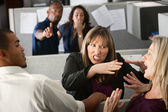 Women Coworkers Quarreling — Stock Photo