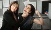 Two Women Quarelling — Stock Photo