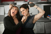 Women Employees Quarreling — Foto de Stock