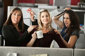 Back-stabbing Colleagues — Stock Photo