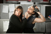 Office Workers Fighting — Stockfoto