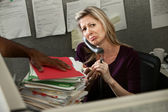 Unhappy Office Woman — Foto Stock