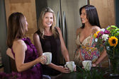 Pregnant Women Enjoying Coffee — Stockfoto