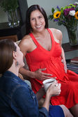 Pregnant Woman with Friend — Stock Photo