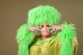 Flamboyante drag queen — Stockfoto