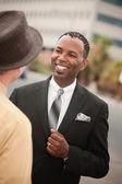 Empresario sonriente — Foto de Stock