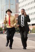 Hurrying Businessmen — Stock fotografie
