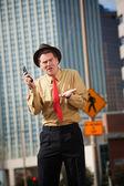 Upset Man With Phone — Stock Photo