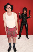 Man Scared of Dominatrix — Foto de Stock