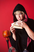 Witch Reciting Spells — Stock Photo