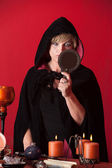 Witch With Scry — Stockfoto