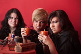 Witches With Candles — Stock Photo