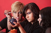 Witches Mix a Potion — Stock Photo