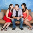 Man with Girlfriends — Stock Photo #40887117