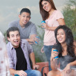 Teens Hanging Out at Barbecue — Stock Photo #40887649