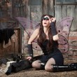 Fairy With Loupe Glasses — Stock Photo #40887863