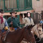 Western Vigilantes on Horseback — Stock Photo #40889545