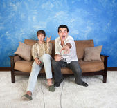 Two Video Game Players — Stockfoto