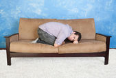 Upset Teen On Sofa — Stock Photo