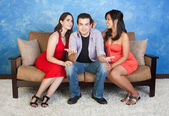Love Triangle — Stock Photo
