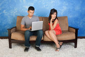 Unhappy Girlfriend — Stockfoto