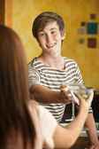 Young People with Martinis — Stock Photo