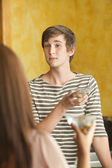 Young Martini Drinkers — Stock Photo