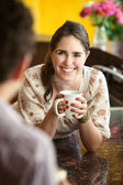 Friends With Coffee Mug — Stock Photo