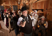 Serious Gunfighters — Stock Photo