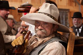 Drunken Old Cowboy — Stock Photo
