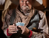 Bluffing Card Player — Foto Stock