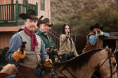 Four Tough Western Robbers — Stock Photo