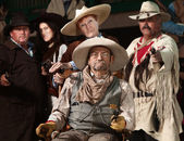 Old West Bandit with Gang — Stock Photo