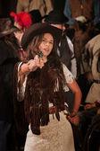 Latina Gunslinger — Zdjęcie stockowe