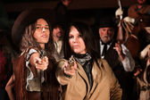 Female Gun Fighters — Stock Photo