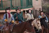 Western Vigilantes on Horseback — Stock Photo