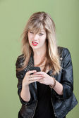 Annoyed Girl On Phone — Stock Photo