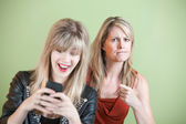 Teen Texting — Stock Photo