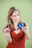 Cutting Credit Cards — Stock Photo