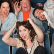 People Screaming In Theater — Stock Photo #40924729