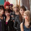 Stock Photo: Serious Teen Punk Gang