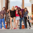 Young punky teen group photo — Stock Photo