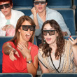Stock Photo: 3D Movie Watchers