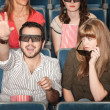 Girlfriend Annoyed With Boyfriend at Movies — Stock Photo