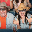 Couple Scream With 3d Glasses — Stock Photo #40924363