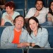 Happy People In Theater — Stock Photo