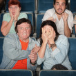 Scared People In Theater — Stock Photo