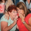 Scared Women In Theater — Stock Photo
